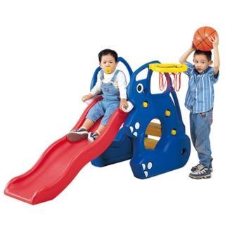 【寶貝樂】寶貝象歡樂溜滑梯組(附籃框籃球)