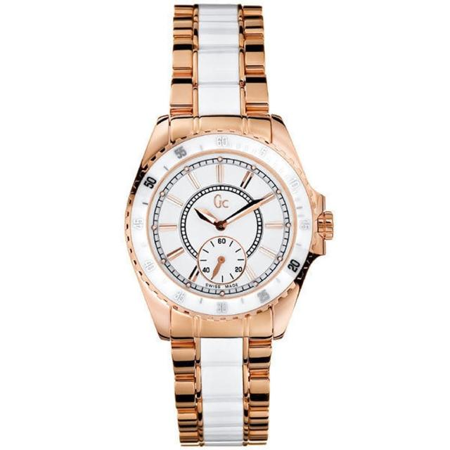 Gc GUESS玫瑰金奢華時尚陶瓷錶(GX47003L1)