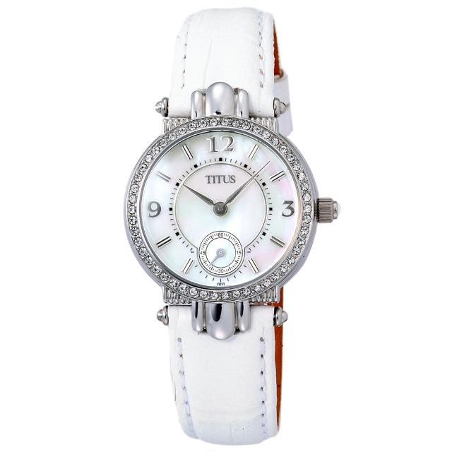 【TITUS鐵達時】時尚公主氣質腕錶-白(06-1096-001)