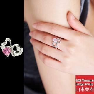 【山本美樹】粉紅愛戀 粉晶純銀戒指