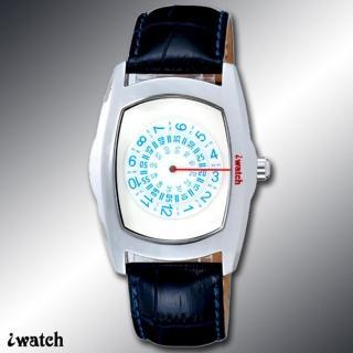 iwatch 型男索女正點個性磅秤錶(藍白) IW-1007-2