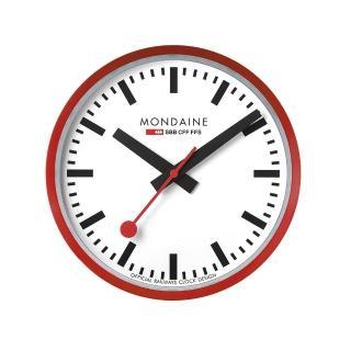 【MONDAINE瑞士國鐵】25cm經典掛鐘(紅)