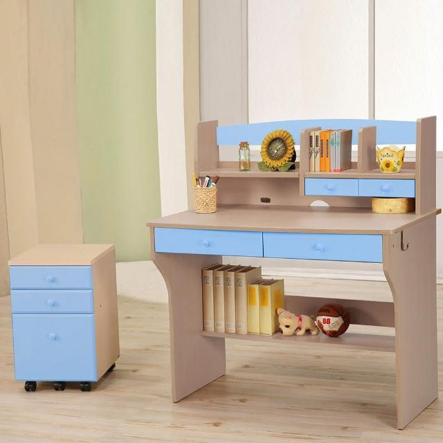 【C&B】天才兒童日式書桌櫃組(四色可選)