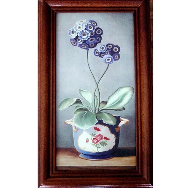 【开运陶源】《绣球花》原木钥匙盒壁饰