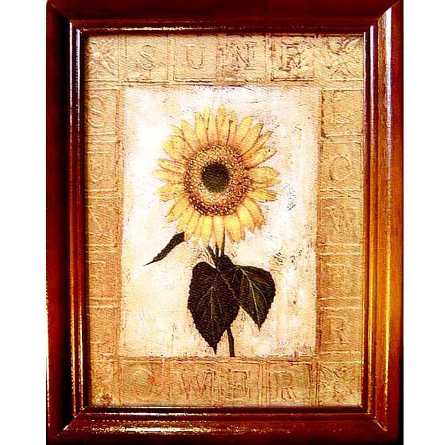 【開運陶源】原木鑰匙盒壁飾 直式/小(Sunflower向日葵)