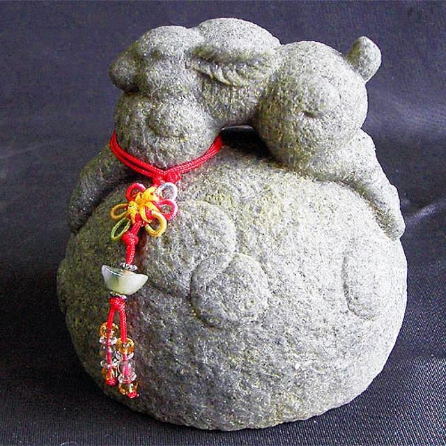 【雕塑藝術大師 羅廣維】開運陶源《秤心如意》系列(石塑造十二生肖-兔)