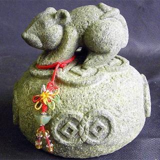 【雕塑藝術大師 羅廣維】開運陶源《秤心如意》系列(石塑造十二生肖 鼠)