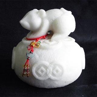 【雕塑藝術大師 羅廣維】開運陶源《秤心如意》系列(石塑造十二生肖-鼠)
