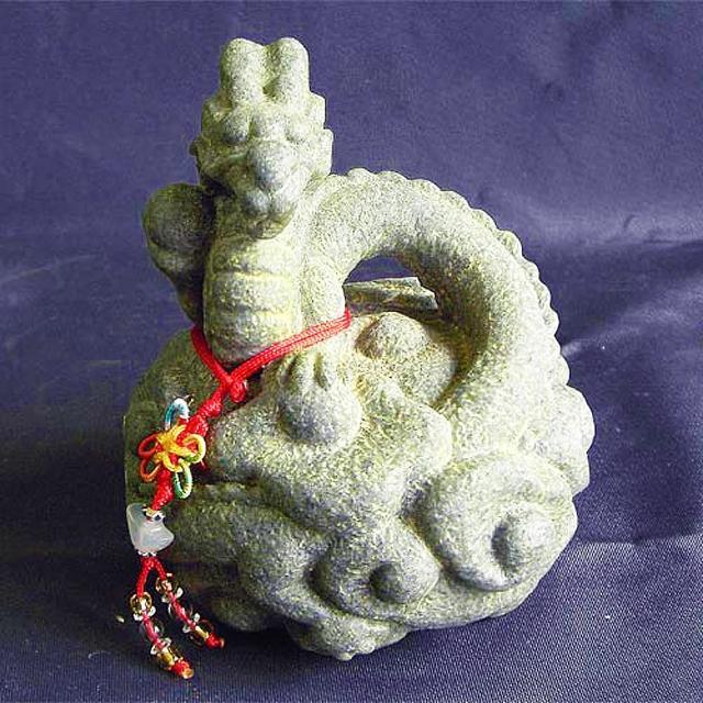 【雕塑藝術大師 羅廣維】開運陶源《秤心如意》系列(石塑造十二生肖-龍)