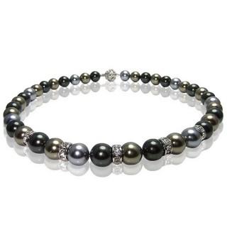 【小樂珠寶】稀有南洋深海貝珍珠項鍊★深三色