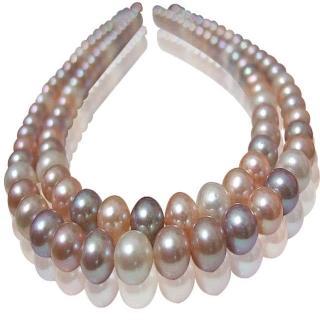 (小樂珠寶)超稀有天然珍珠項鍊*少有跳色珠