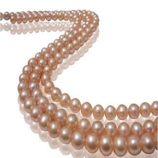 (小樂珠寶)超稀有天然珍珠項鍊-百變粉色