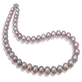 (小樂珠寶)超稀有天然珍珠項鍊-紫羅蘭色