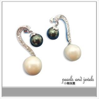 【小樂珠寶】全圓南洋深海貝珍珠耳環*華麗耳針款