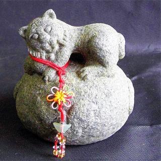 【雕塑藝術大師 羅廣維】開運陶源 《秤心如意》系列(石塑造十二生肖-虎)