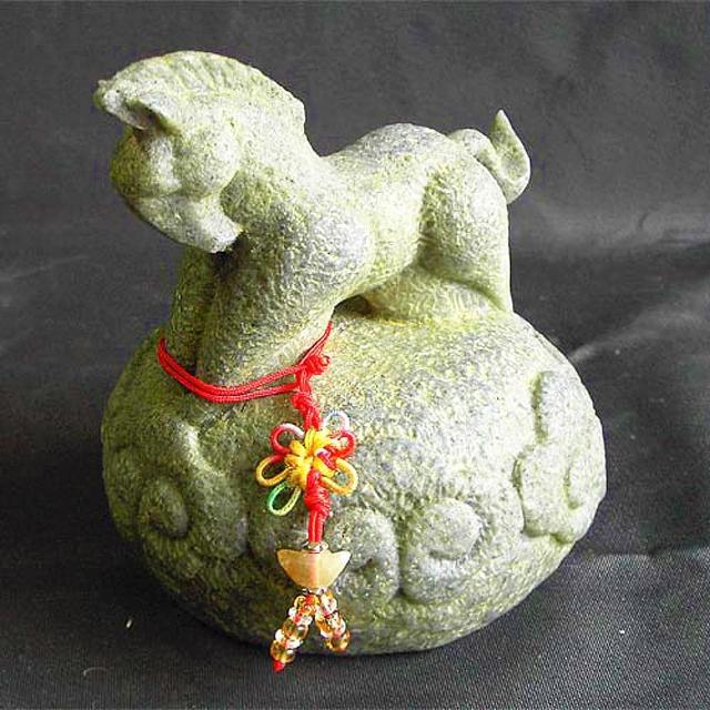 【雕塑藝術大師 羅廣維】開運陶源 《秤心如意》(石塑造十二生肖-馬)