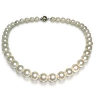 【小樂珠寶】3A南洋深海貝珍珠項鍊★白色