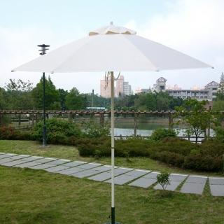 【BROTHER 兄弟牌】兄弟牌玻璃纖維骨架+鐵管烤漆防水太陽傘(大型 2.7m)