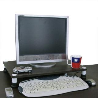 【美佳居】深40公分x寬60公分-桌上型置物架(深胡桃木色)