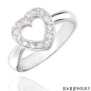 【E&I】-TRUE LOVE-名牌經典款八心八箭完美車工美鑽戒指