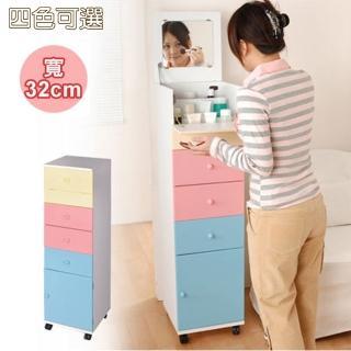 【C&B】粉彩直立式細縫便利化妝收納櫃(四色可選)