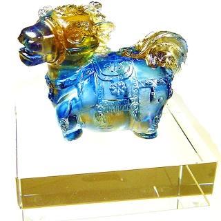 【開運陶源】《十二生肖》水晶琉璃(馬)