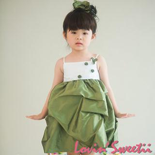 (Lovin Sweetii)甜心小公主童洋裝橄欖綠限量款