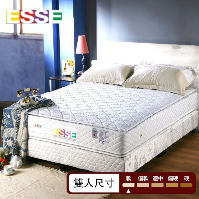 【ESSE御璽名床】防蹣抗菌雙面三線車工獨立筒床墊(雙人)/
