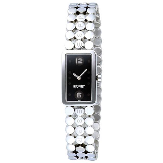 ESPRIT 俏麗圓點造型鍊錶(黑)