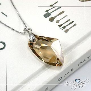 【伊飾晶漾】金檳隕石純銀項鍊