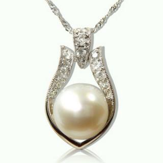 【小樂珠寶】超大11-12mm天然珍珠墜鍊(最大最美的天然珍珠)
