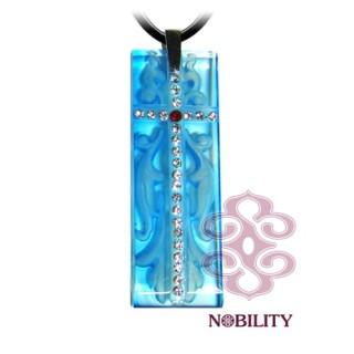 《三卡寶精品》心靈之泉~讚美系列-希望琉璃項鍊(藍)