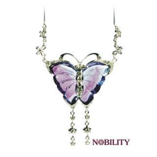 《三卡寶精品》希望之翼蝴蝶琉璃項鍊