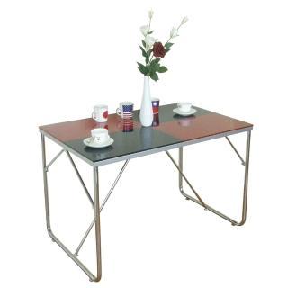 【美佳居】110x70/公分(雙彩強化玻璃)餐桌/會議桌/洽談桌