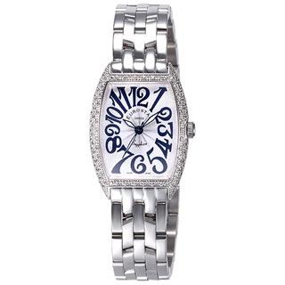EUROSTAR 優雅知性字體晶鑽時尚錶(銀-小)