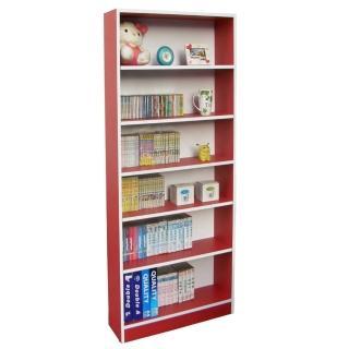 【美佳居】大6格-180高(挑高格)公文櫃/書櫃(紅白色)