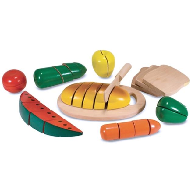 【美國 Melissa & Doug】木製玩食趣 -切食物玩具組