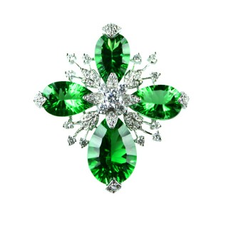 【蕾帝兒珠寶】-女人夢想20ct千禧綠曜墜