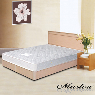 (Maslow-優雅白橡)雙人床組-5尺(不含床墊)
