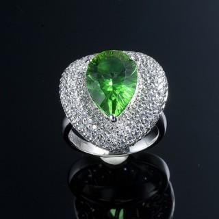蕾帝兒名品-情意千禧綠曜戒指