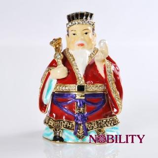 【三卡寶精品】福神金屬擺件 工藝品 進口奧地利水鑽(珠寶盒)