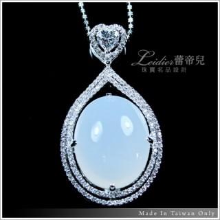 【蕾帝兒珠寶】-珍愛一世繁華天然玉髓晶鑽墜鍊