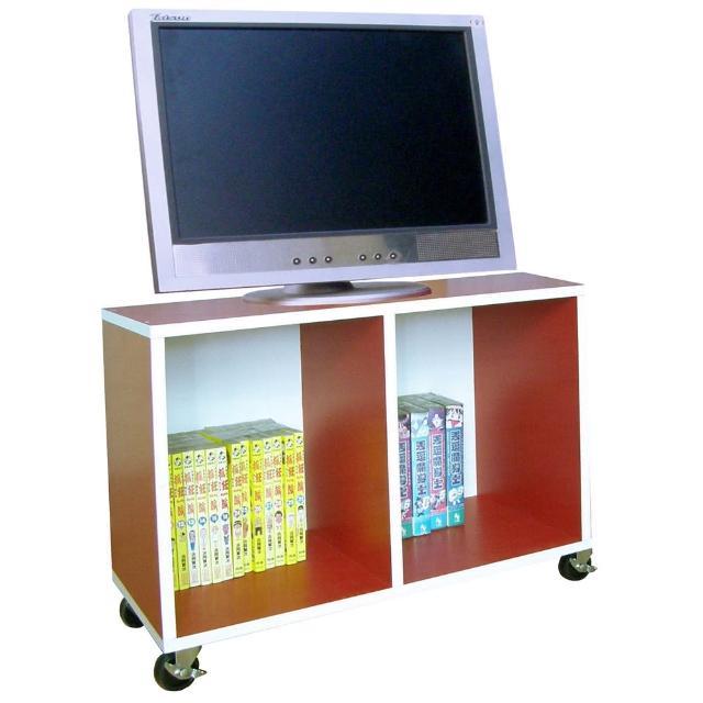 【美佳居】寬60公分-耐重型(活動式)電視櫃/收納櫃/書櫃/置物櫃-紅白色(附四個工業輪)