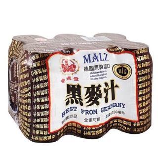 【崇德發】易開罐黑麥汁(330mlx6罐)
