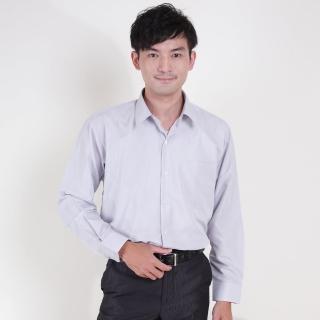 【JIA HUEI】長袖柔挺領男仕吸濕排汗襯衫 灰色(台灣製造)