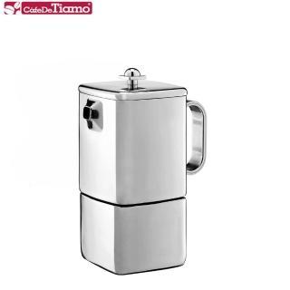 【Tiamo】515 方型速拆義式摩卡壺-三杯份(HA2275)