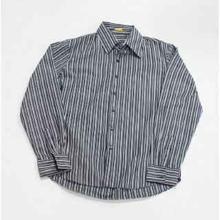 【摩達客】美國進口SolisPremium Woven Collection灰色直紋長袖休閒襯衫