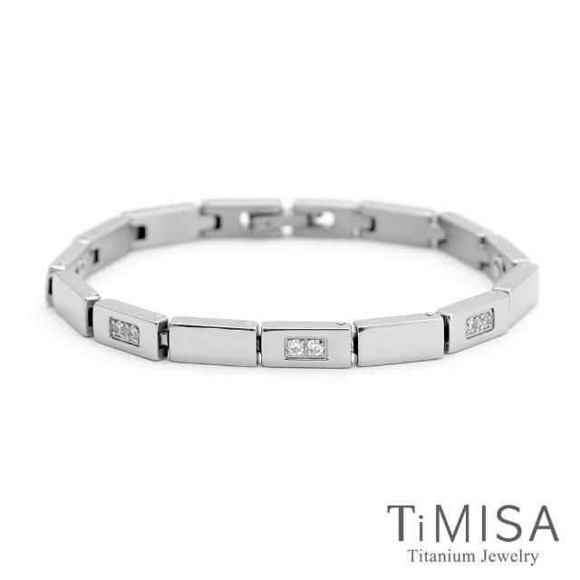 【TiMISA】陽光森林-晶鑽版 純鈦鍺手鍊
