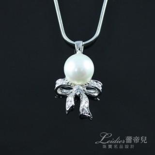 【蕾帝兒珠寶】-美戀白色貝珠墜鍊