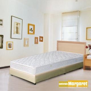 【Margaret】極簡風格獨立筒床組-單人(白橡)